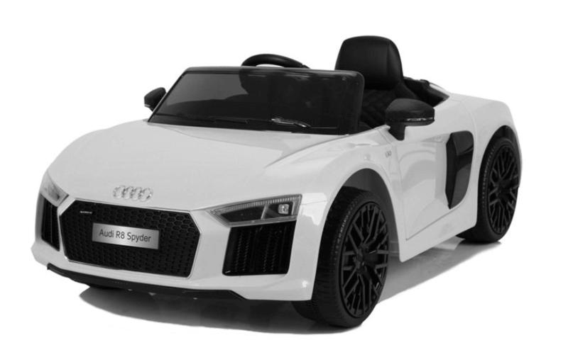 Elektroauto Kinder Audi R8 weiss (2)