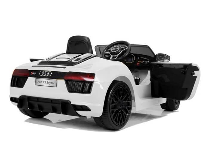 Elektroauto Kinder Audi R8 weiss (3)