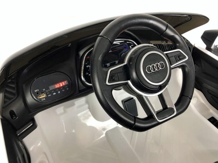 Elektroauto Kinder Audi R8 weiss (4)