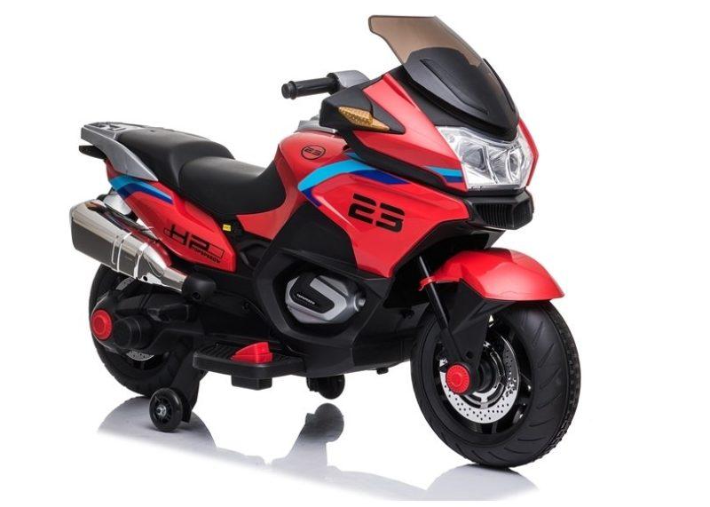 Motorrad mit 2 Motoren & EVA-Reifen und Ledersitz