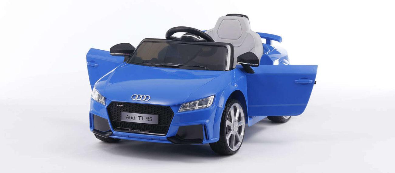 Audi TT RS blau Kinderauto 3