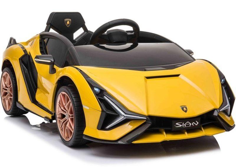 Kinderauto Lamborghini Sian mit EVA-Reifen und Ledersitz